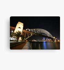 Sydney Harbour Bridge By Night Canvas Print