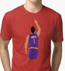 Devin Booker 70 Points Finger To The Sky Tri-blend T-Shirt