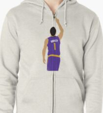 Devin Booker 70 Points Finger To The Sky Zipped Hoodie