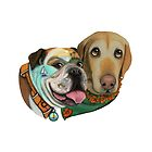 California Adventures Bulldog & Labrador Collection by CouchPetatoArt by Couchpetatoart