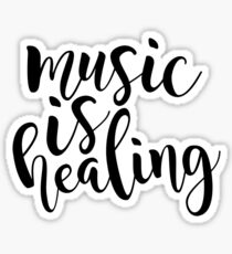music is healing Sticker