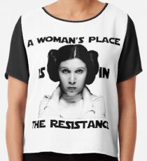 A Woman's Place is in The Resistance Chiffon Top