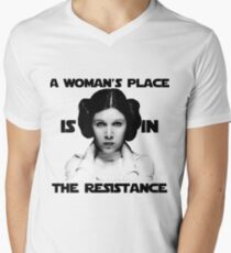 A Woman's Place is in The Resistance Men's V-Neck T-Shirt