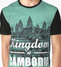 Kingdom of Cambodia   Angkor Wat Graphic T-Shirt