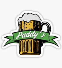 Paddy's Beer Icon Sticker