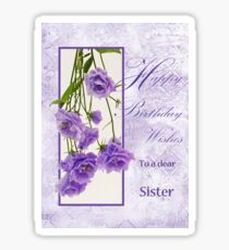 Happy Birthday Wishes To A Dear Sister Sticker