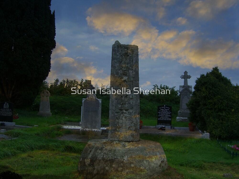 Old Killary Graveyard - Ninth Century Cross by Susan Isabella  Sheehan