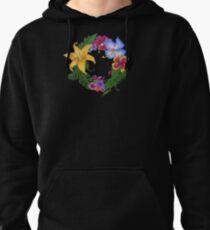 Tropical Flowers Pullover Hoodie