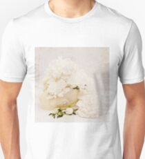 White Swan Filled With Peonies  Unisex T-Shirt