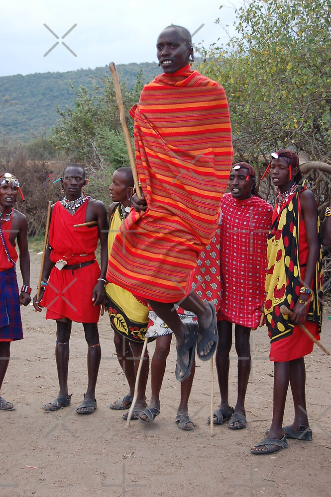 Jumping Masai by ApeArt