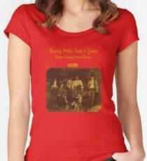 Crosby, Stills, Nash & Young - Deja Vu Women's Fitted Scoop T-Shirt