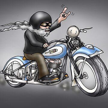 MOTORCYLE HARLEY STYLE  by squigglemonkey