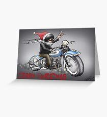 Weihnachten Harley Stil Motorrad Grußkarte