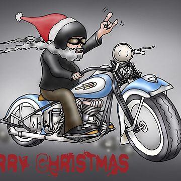 CHRISTMAS HARLEY STYLE MOTORCYCLE by squigglemonkey