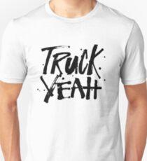LKW Yeah - lustiges Fernlastfahrer-Redneck-Land-südliches Sprichwort-Zitat Slim Fit T-Shirt