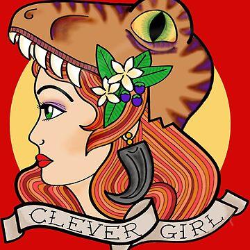 Clever Girl - Queen of Raptors by FireWheel