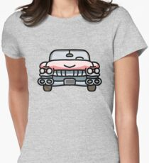 1950's Pink Cadillac Womens Fitted T-Shirt