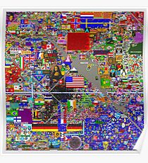 Reddit Place /r/Place 24 Hours Poster