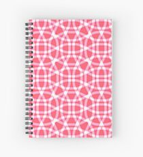 Red and white pattern of lines Spiral Notebook