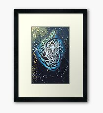 Water Space Wolf Framed Print