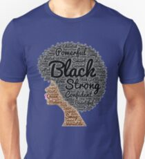 Strong Black Girl with Big Natural Hair Pride T-shirt gift T-Shirt
