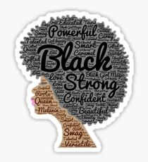 Strong Black Girl with Big Natural Hair Pride T-shirt gift Sticker