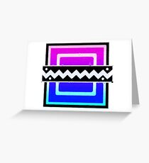 80's Frost Icon Greeting Card