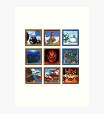 Lámina artística Pinturas Super Mario 64
