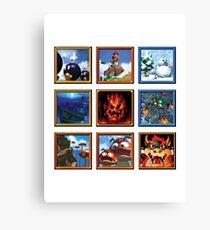 Super Mario 64 Paintings Canvas Print