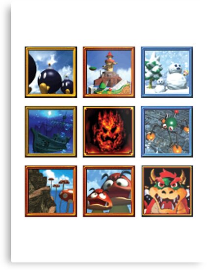 Super Mario 64 Paintings by WistfulKid