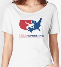 USA Wrestling Women's Relaxed Fit T-Shirt