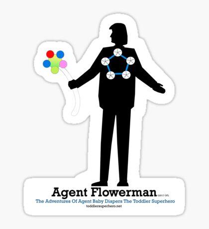 Agent Flowerman Sticker
