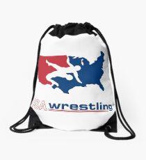 USA Wrestling Drawstring Bag