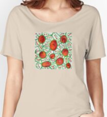 Tequila Sunset Organic Vines Pattern Women's Relaxed Fit T-Shirt