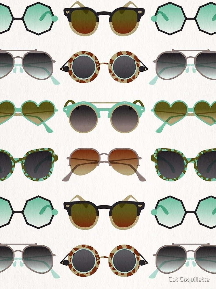 Sunglasses Collection – Mint & Tan Palette by catcoq