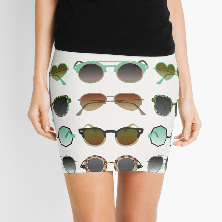 Sunglasses Collection – Mint & Tan Palette Mini Skirt