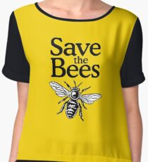 Save The Bees Beekeeper Quote Design Chiffon Top