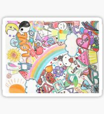Colorful Doodling 1 Sticker