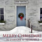 Merry Christmas --- Stow Town Hall 1842 by T.J. Martin