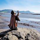 Merlin At Back Beach - Lyme Regis by Susie Peek