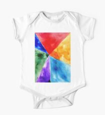 Painted Polygonal Background One Piece - Short Sleeve