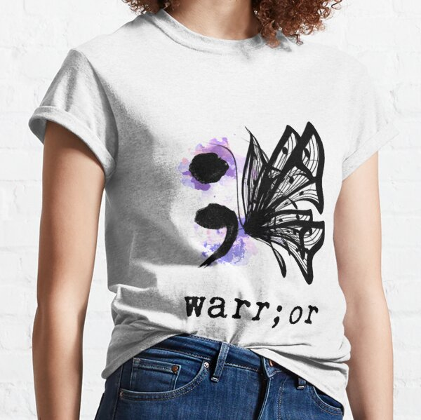 Semicolon Butterfly  Classic T-Shirt