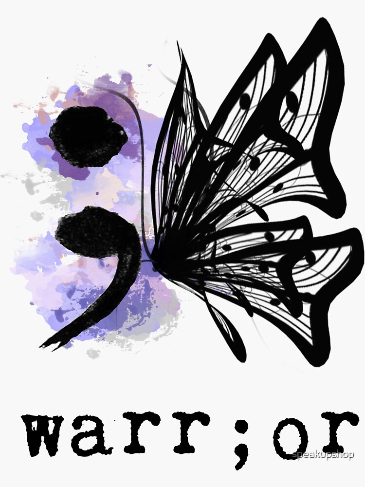 Mariposa Semicolon de speakupshop