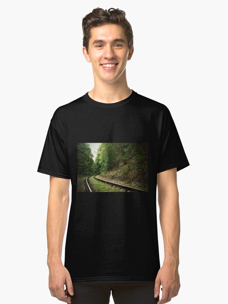 Alternate view of Railway in the forest Classic T-Shirt