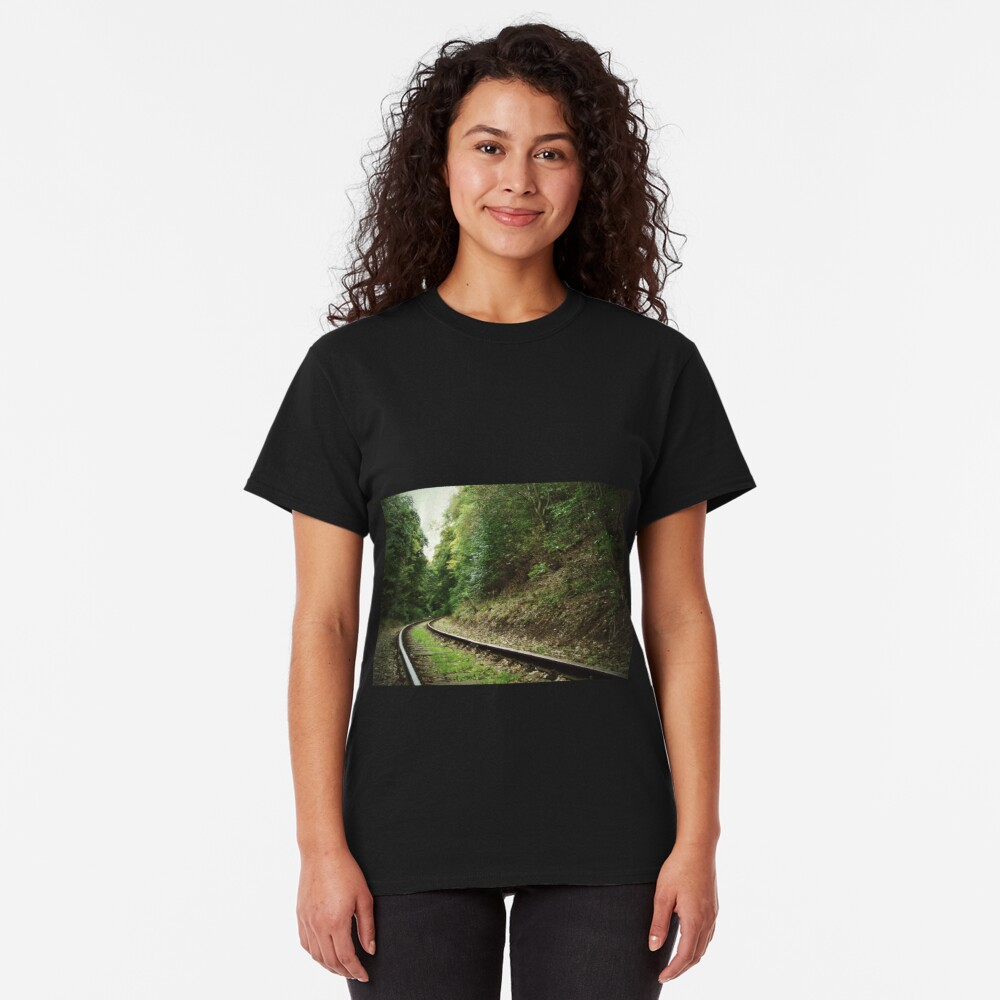 Railway in the forest Classic T-Shirt