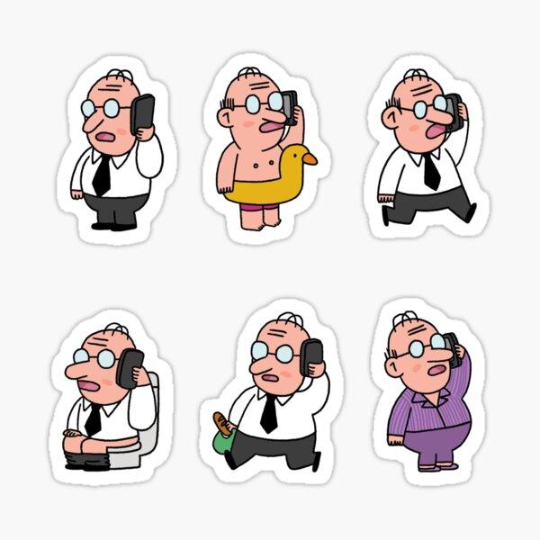 Man at work Sticker
