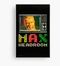 Max Headroom - Retro TV Canvas Print