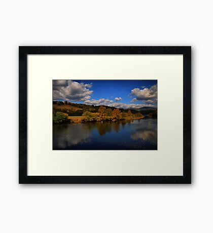 looking back at Autumn Framed Print