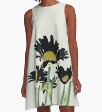 Dark Daisies A-Line Dress