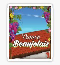 Beaujolais France wine travel poster Sticker